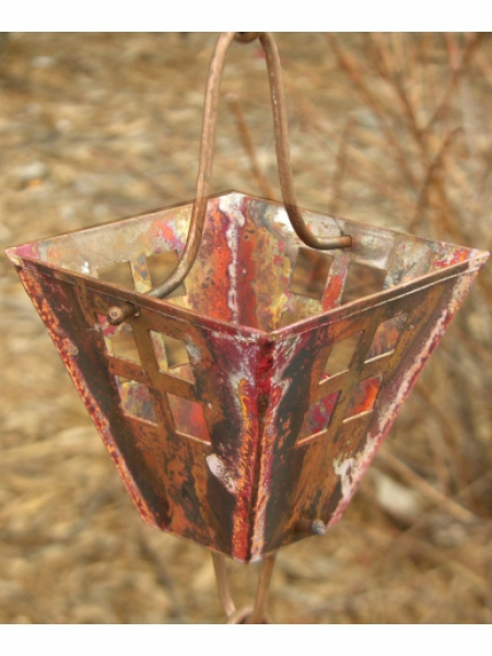 Arts & Crafts Square Cups Rain Chain