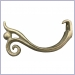 Half Round Scroll and Ball Hanger,hangers,hanger