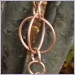 Large Circle Loop Rain Chain,rain chains,rainchains,rain chain,rainchain,Copper Rain Chain