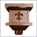 Copper Fleur-De-Lis Conductor Head,conductor heads