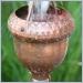 themed rain chain,themed rain chains,acorn cups rain chain,Copper Rain Chain