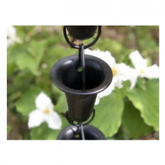 Black Aluminum Flared Cups