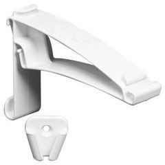 Contemporary Vinyl 2 Piece Hidden Gutter Hanger