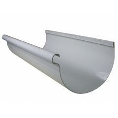 Painted Aluminum Half Round Reverse Bead Gutters