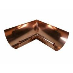 5 Inch Copper Hook Half-round Gutter Patina//Multiple Available Old-Style