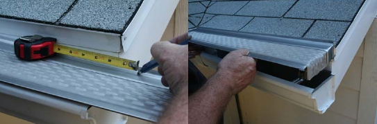 Clean Mesh Gutter Guard Installation Instructions
