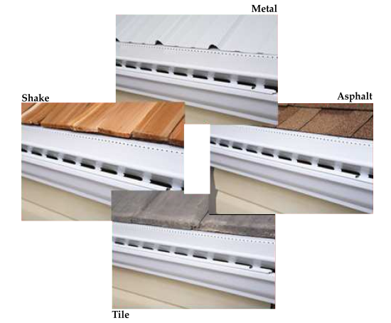 Four Roof Types High Flow Gutter Guard Can Go On