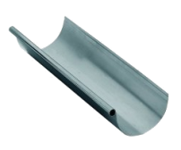 Freedom Gray Copper Half Round Gutter