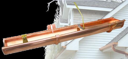 Half Round Hangers Copper Brass