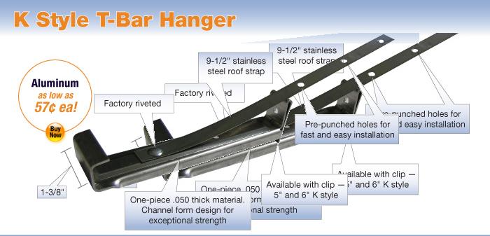 K Style T Bar Hanger