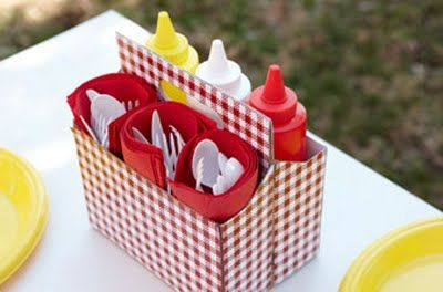 drink carrier as condiment kit