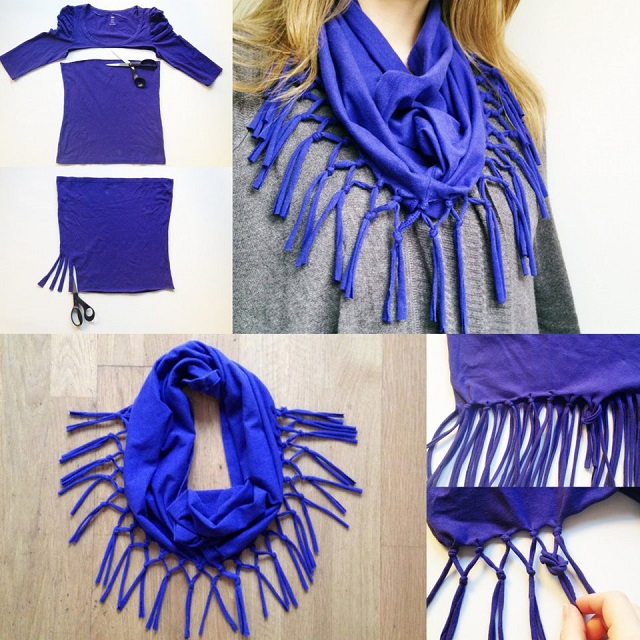 Shirts into Scarfs