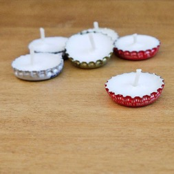 Bottle Cap Mini Candles