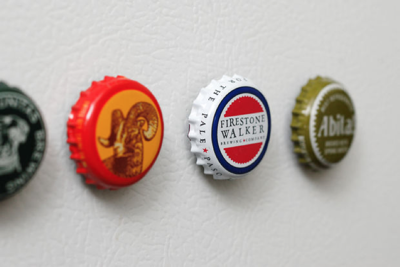 Bottle Caps Into Magnets