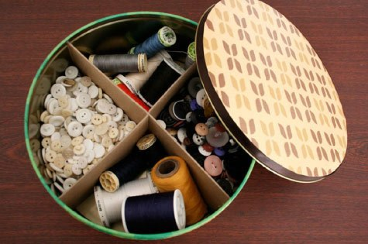 Cookie Tins Into Storage Bins