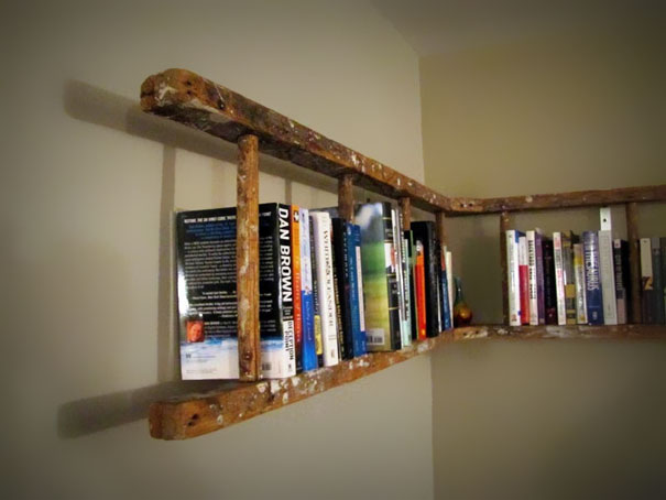 Ladder into a Bookshelf