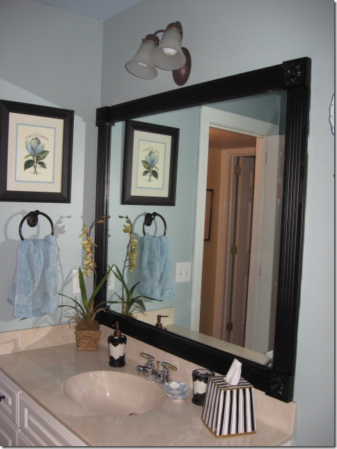 Plain Mirror Into Framed Mirror